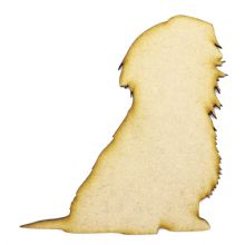Shih Tzu Design 2 Craft Blank, Dog Shape Laser Cut from 3mm MDF, Card Topper
